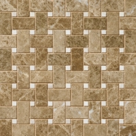 Marble Emperador Light Classic Basketweave Polished M712