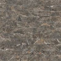 Marble Emperador Dark 1x2 Split Face Mosaic M725