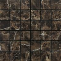 Marble Emperador Dark 2x2 Tumbled Mosaic M725