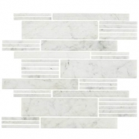 Marble Carrara White Modern Linear Mosaic M701