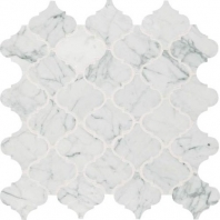 Marble Carrara White 3x3 Baroque Arabesque Mosaic M701
