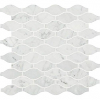 Marble Carrara White 3x1 1/2 Marquise Polished Mosaic M701