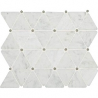 Marble Carrara White Triangle Polished Mosaic M701
