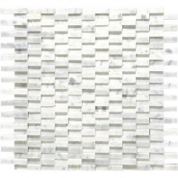 Marble Carrara White Cladding Polished 3D Mosaic M701