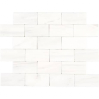 Marble Contempo White 3x6 Subway Tile Tumbled M313