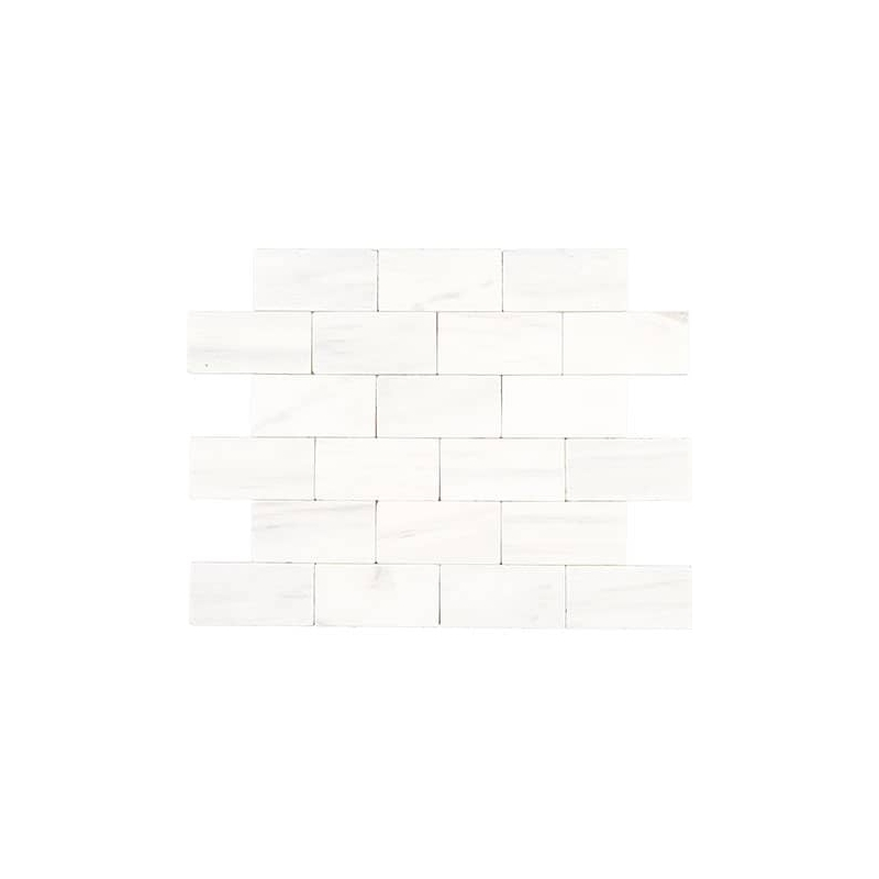 Daltile Marble Contempo White 3x6 Subway Tile Honed M313