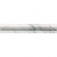 Marble Contempo White Honed Chair Rail M313