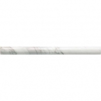 Marble Contempo White Honed Pencil Rail M313