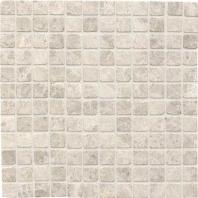 Limestone Arctic Gray 1x1 Mosaic Tumbled L757