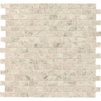Limestone Arctic Gray 1/2x1 Brick-Joint Mosaic Polished L757