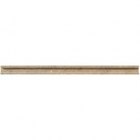 Limestone Corton Sable 3/4x12 Modern Pencil Rail Honed L343
