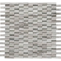 Limestone Chenille White Cladding Polished 3D Mosaic L191