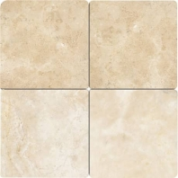 Travertine Mediterranean Ivory 4x4 Tumbled T730