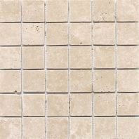 Travertine Mediterranean Ivory 2x2 Mosaic Tumbled T730