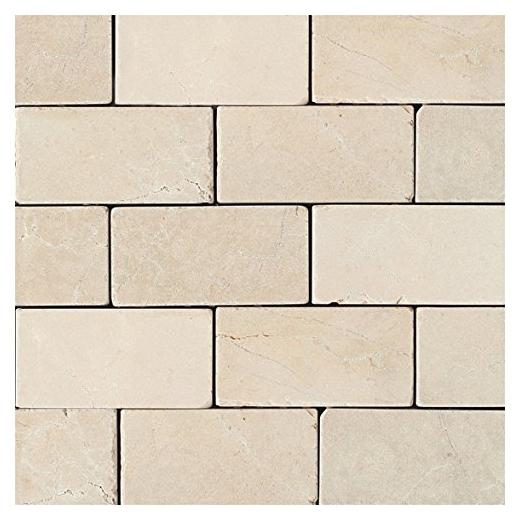 Marble Crema Marfil Clico 3x6 Subway Tile Tumbled M722