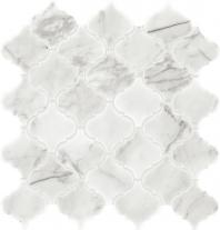 Marble Venetian Calacatta 3x3 Baroque Mosaic Polished M474