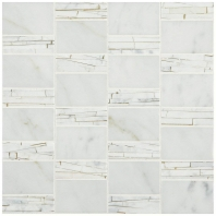 Marble Carrara White Abstract Polished Mosaic M701