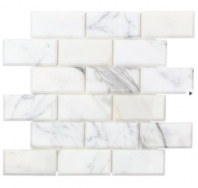 Soho Studio Calacatta 2x4 Beveled Interlocking Tile- 2X4BEVCALC