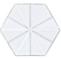 Soho Studio Lori Dennis Flores Hex Blanco Hexagon Tile- LDCCFL3DHXBLNC