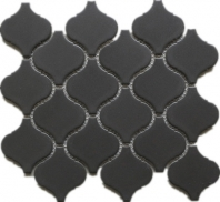Chocolate Lantern Arabesque Matte Porcelain Mosaic Tile JBTPM6