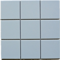 Light Grey Matte Square 4x4 Porcelain Mosaic Tile JBTPM12