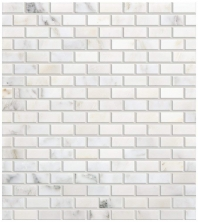 Marble First Snow Elegance 1/2x1 Brick-Joint Polished Mosaic M190