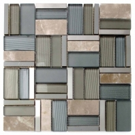 Cross Stitch Khaki Mosaic Tile AM-CS-KI