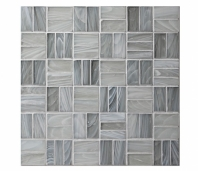 Homespun Polwarth Tweed Glass Mosaic Tile AM-HS-T-PL