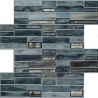Jazz Fusion Blue Note Glass Mosaic Tile AM-JF-BN