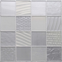 Montage Silver Salts 3 x 3 Glass Mosaic Tile AM-MT-SS