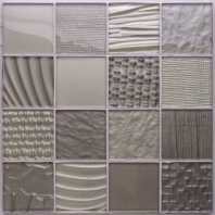 Montage Monochrome 3 x 3 Glass Mosaic Tile AM-MT-MC