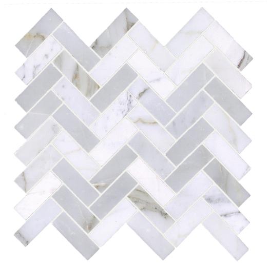Soci Long Calacutta Herringbone Tile SSH-252