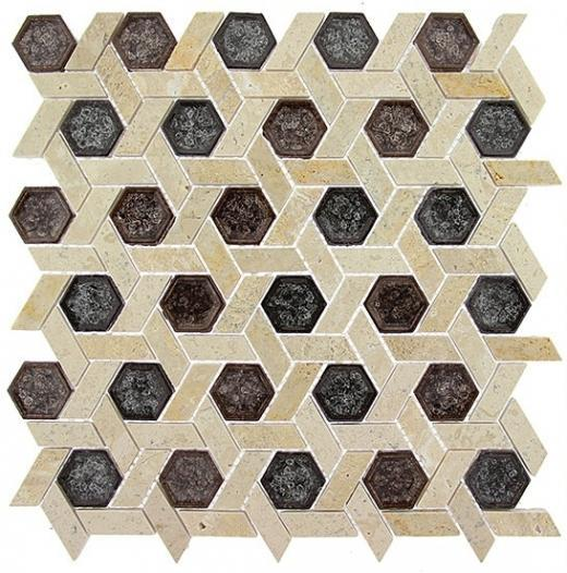 Tile Tranquil Hexagon Morrocan Chocolate TS950