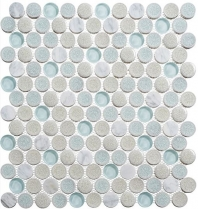 Dawn Celebration CRM475 Crushed Penny Round Mosaic Tile