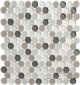 Local Gala CRM476 Crushed Penny Round Mosaic Tile