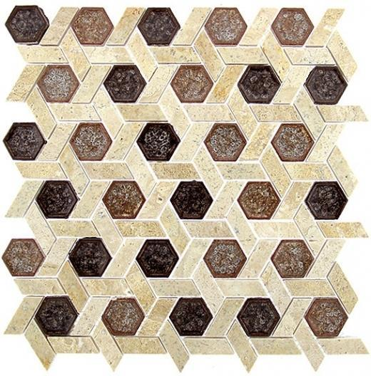 Tile Tranquil Hexagon Jerusalem Garden TS952