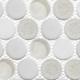 Festive Whites CRM478 Crushed Penny Round Mosaic Tile