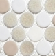 Banquet Hall CRM479 Crushed Penny Round Mosaic Tile