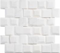 Avory Column TLT5902 Square 3-D Mosaic Tile