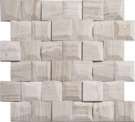 Universal Stroke TLT5903 Square Wood Look 3-D Mosaic Tile