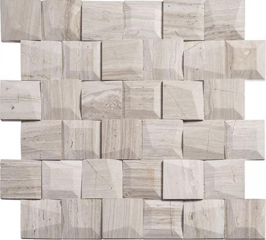 Universal Stroke TLT5903 Square Wood Look 3-D Mosaic Tile