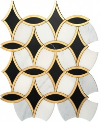 Napolean Chic FAR771 Geometric Metallic Mosaic Tile