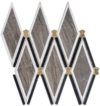 Versacci Glam GNT506 Wood Look Metallic Mosaic Tile