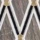 Versacci Glam GNT506 Wood Look Metallic Mosaic Tile