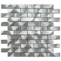 Soho Studio Silver Aluminum Tile 1x3 Brick ALU1X3SLVR