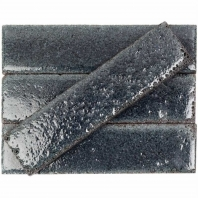 Bahari Brick Black 3x12 Subway Lava Stone Tile