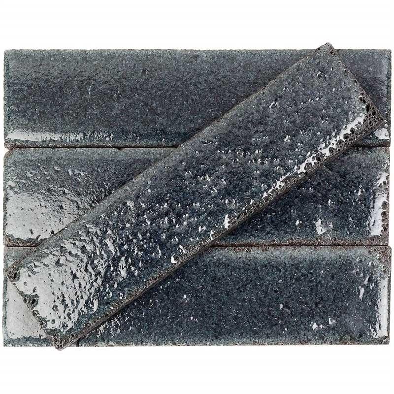 Soho Studio Bahrbrkblck Black 3x12 Subway Lava Stone Tile