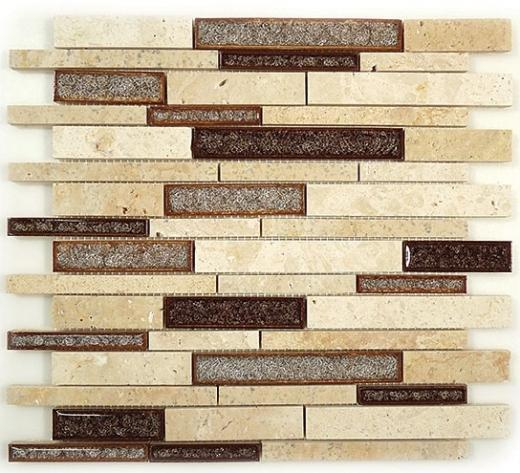 Glazzio Tranquil Random Brick Series Sedona Rust TS-940