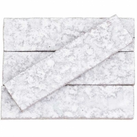 Kayoki Knoll Polished White 2x8 Clay Subway Tile