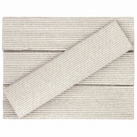Kayoki Plica Matte White 2x9 Clay Subway Tile